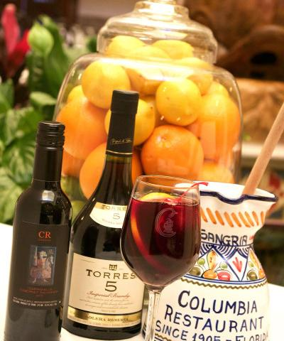 "The Columbia's Sangria - Sit outside and enjoy a cool and refreshing pitcher of the Columbia's sangria. A long-time favorite ""taste of Spain"" at the Columbia, made tableside."