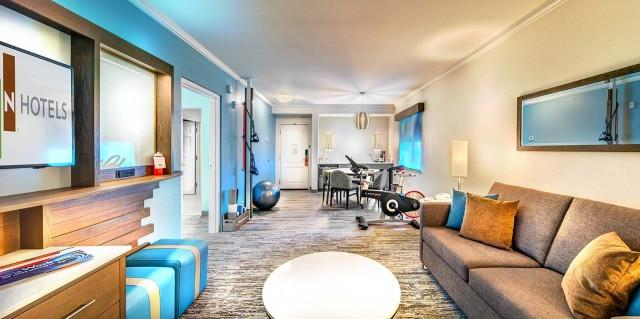 King Suites one bedrooms with Spin bike in each suite!