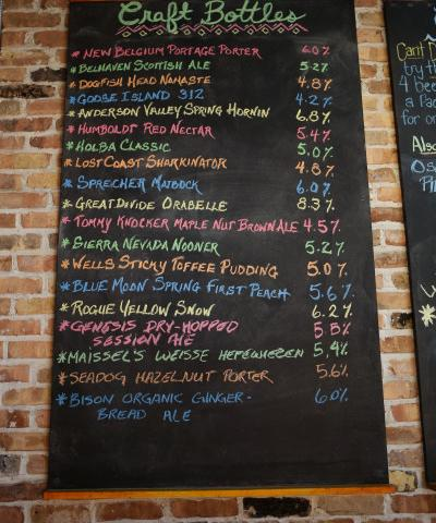 Full Bar, Small Batch Spirits, Wine on Tap, Craft Beers & Happy Hours