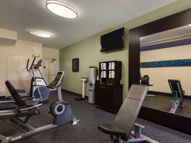 Work up a sweat - Calling all fitness enthusiast! Come jump start your day  in our fitness center.