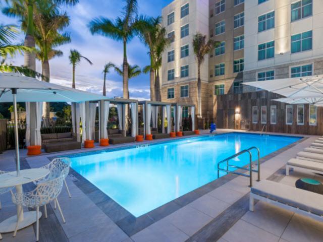 Night Pool - The pool at night at Homewood Suites by Hilton Sarasota/Lakewood Ranch