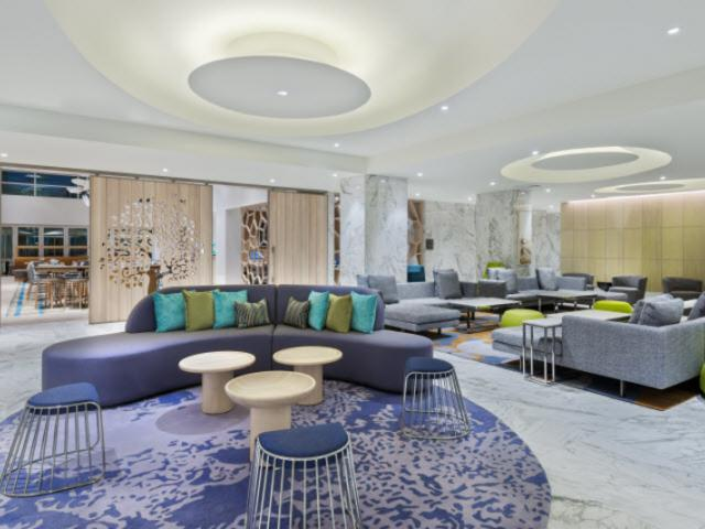 Lobby at HWS - The lobby at Homewood Suites by Hilton Sarasota/Lakewood Ranch
