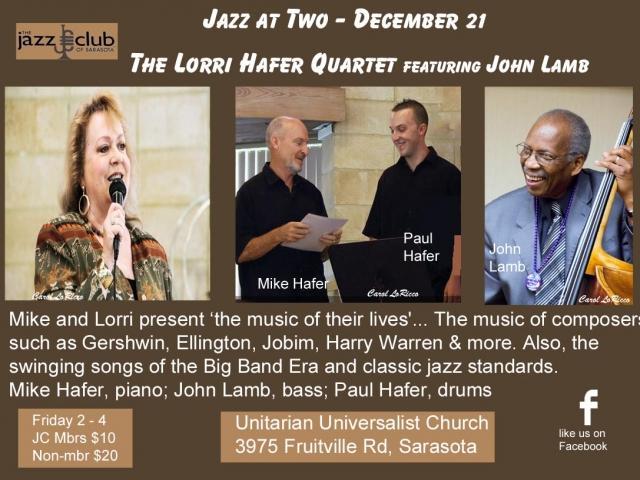 Jazz at Two - Lorri Hafer Quartet