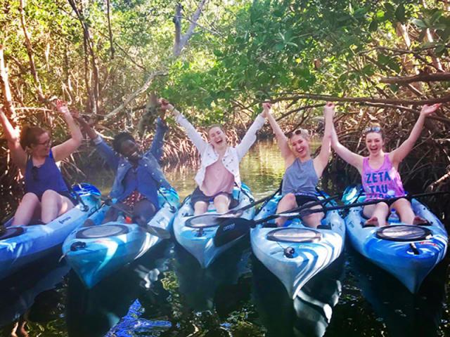 KAYAKING SRQ TOURS & RENTALS - WEDDINGS.  Group kayak.