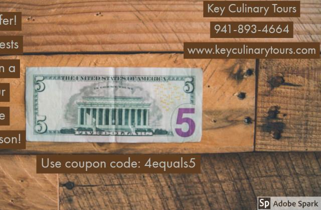 4=$5 PLUS - 4=$5 off per person