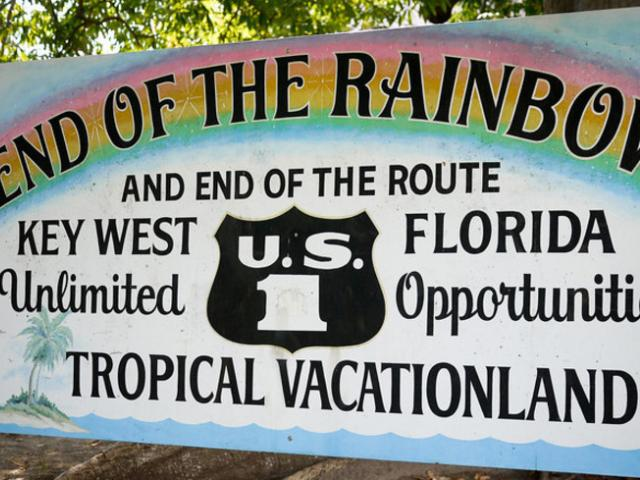End of the Rainbow sign