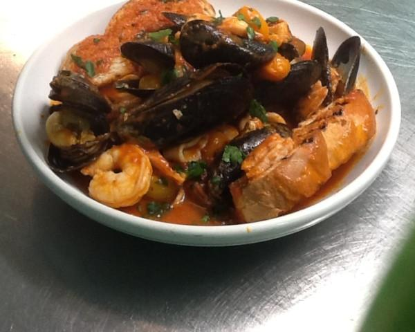 Sea food soup - Sea food soup, with mussels, shrimp, octopus , clams and calamari Drizzling with homemade sauce. Served with toast homemade bread