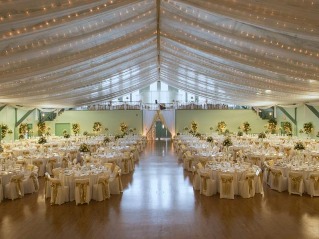 Wedding - From elegant weddings to business meetings, seminars, and tradeshows, the auditorium offers 10,000 square feet of unobstructed floor space for weddings.