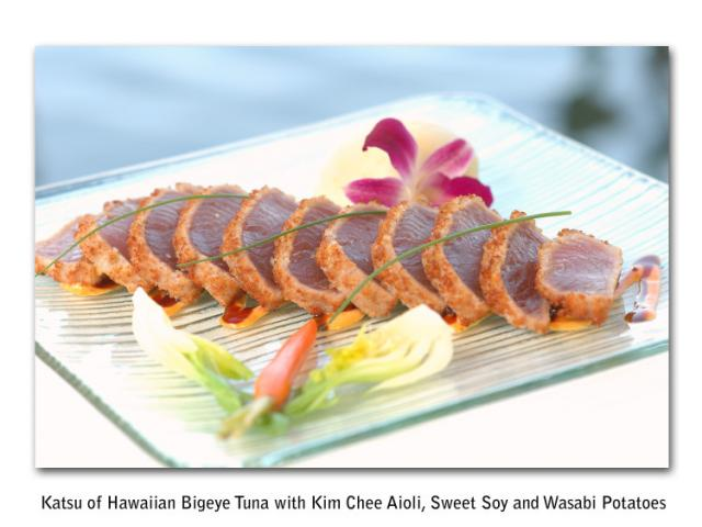 Katsu Tuna entree at Ophelia's on the Bay - Katsu Tuna entree at Ophelia's on the Bay