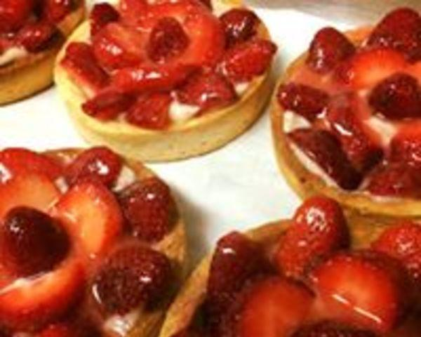 Strawberry Tart - One of the various chef pastries daily special