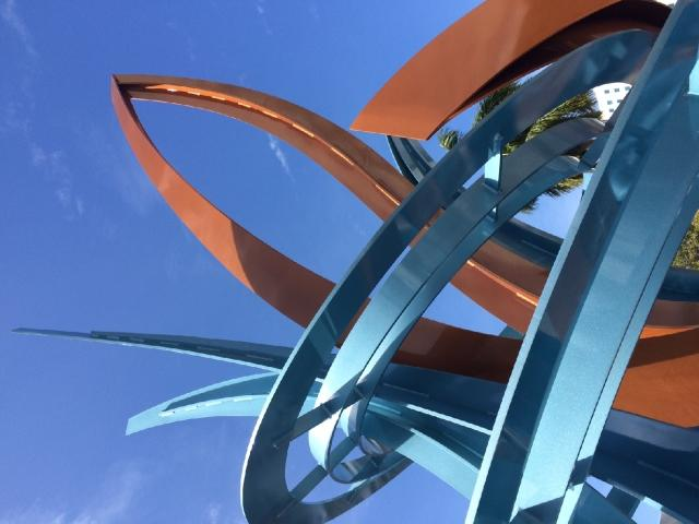 Jumping Fish by artist Jeffrey Laramore is the 84th piece in Sarasota's Public Art Collection.
