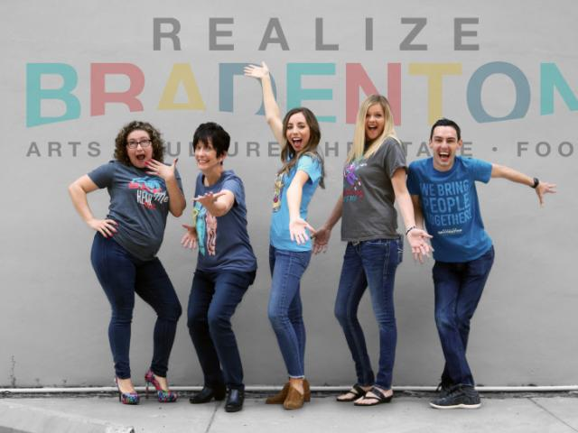 Realize Bradenton Team - Catherine Ferrer, Johnette Isham, Holly Eisemann, Joanna Bailey and Brian Craft