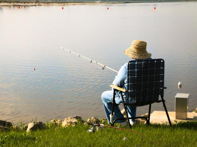 Did you know that you can fish at our lake?