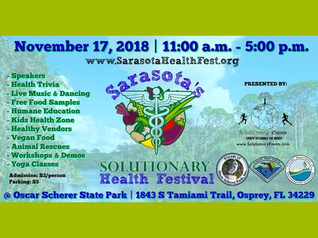Sarasota's 2nd Annual Solutionary Health Festival