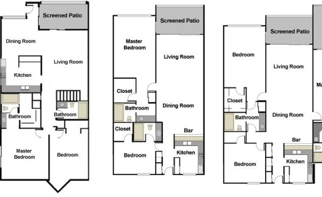 Siesta Dunes Floor Plans - We have 2 and 3 bedroom units available for rent!