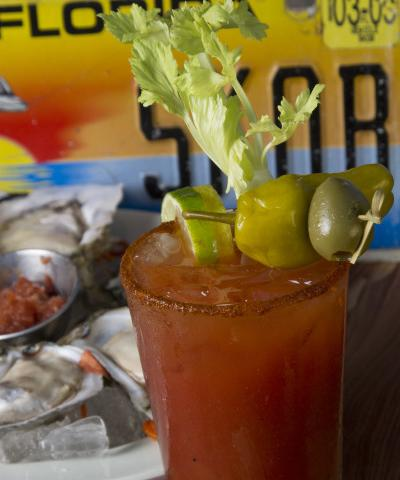 Bloody Mary - SKOB's Famous Bloody Mary!  Ask for spicy if you like an extra kick!  We love a good Bloody anytime but did you know that SKOB serves BRUNCH every Sunday morning from 9-11:45?  Join us!