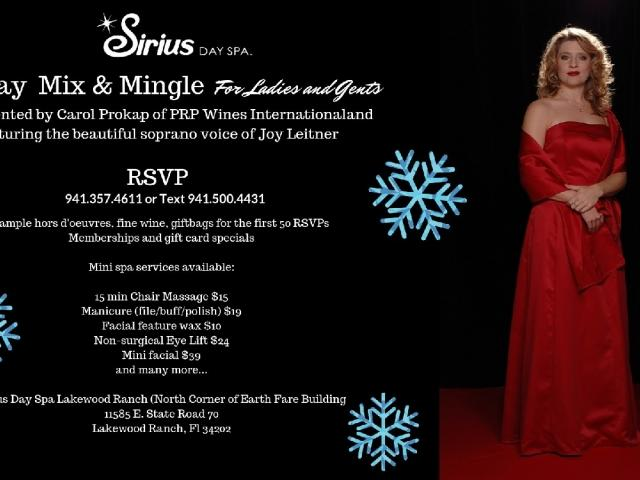 Sirius Day Spa Holiday Mix & Mingle