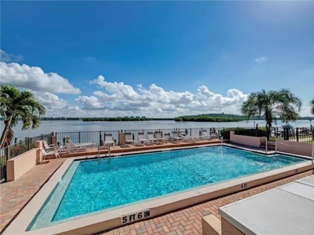 Sunrise Cove Pool - Our heated freshwater pool with covered cabana overlooking the Bay.