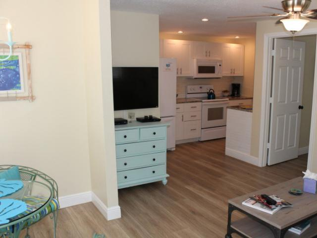 The Nook Living area - One bedroom One bath unit at The INN on Siesta Key