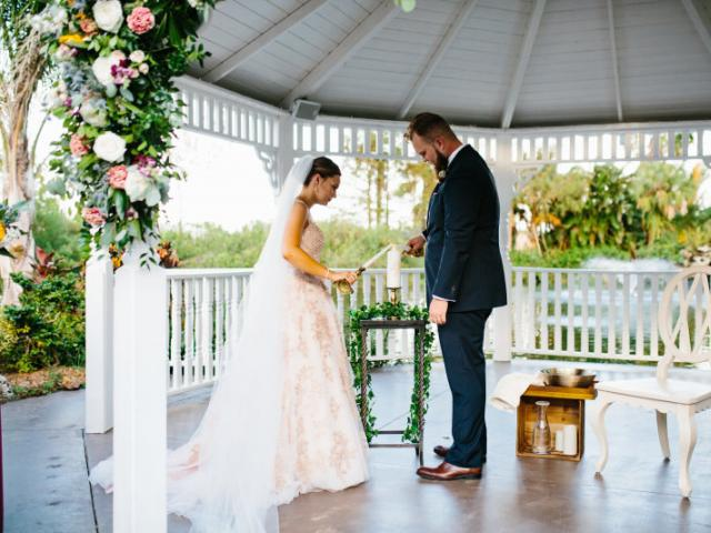 The Pavilion at Mixon Farms - Pavilion with gazebo, twinkle lights, farmhouse inn for lodging, lawn games, coordinating, stellar rental catalog and so much more.  Vintage Charm with a Southern Twist