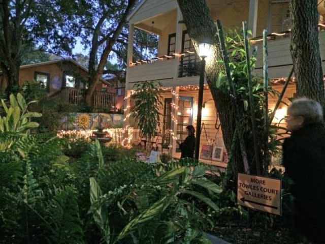 Night at Towles - View artists galley/studios in historic area and see art on the grounds and porches