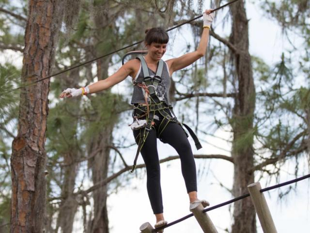 We have over 100 treetop obstacles