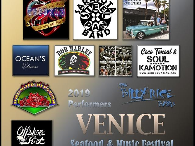 Musical Performers at Venice Seafood & Music Festival 2019
