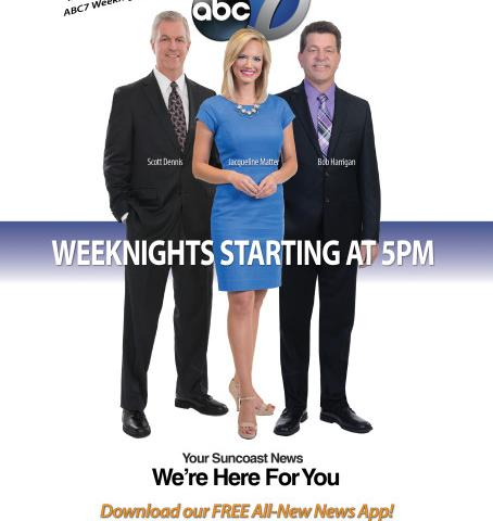 ABC7 News - ABC7 is Your Suncoast News!  Watch weeknights starting at 5pm!
