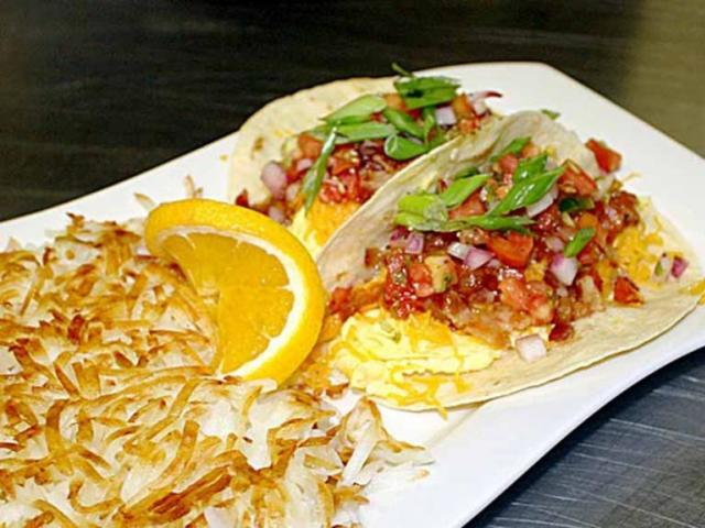Zeke's Breakfast Tacos 2 - Zeke's Breakfast Tacos 2 with Hashbrowns