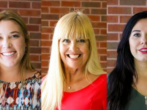 Left to right: Allison Jones, group sales coordinator; Ellen Thomas, senior meeting sales manager; Amanda Walker, leisure group sales manager