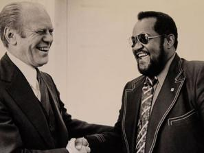Gerald Ford and Dr. Ed James in Sarasota Florida