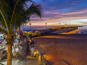 Sharkey's on the Pier, at Sunset