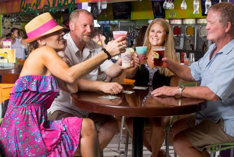 Daiquiri Deck on Siesta Key is a favorite among tourists and locals