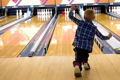 Bowling family-fun at Sarasota lanes on a rainy day in Sarasota County. Photo by Liz Sandburg