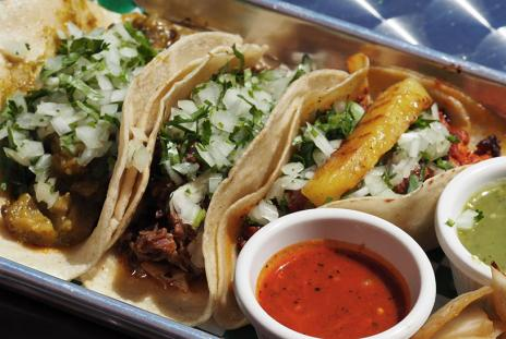 Tacos at Reyna's Taqueria [Photo: Lauren Jackson]