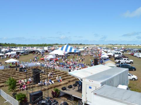 Aerial view of Suncoast BBQ & Bluegrass Bash