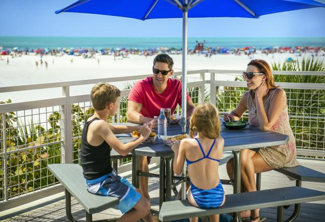 Family at Siesta Beach