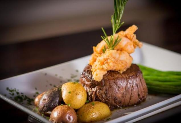 Picture of steak dinner at Chaz 51 bistro