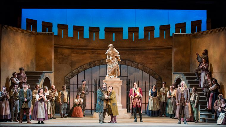 Sarasota Opera. Final scene from Beethoven's FIDELIO. Photo by Rod Millington