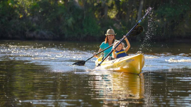 two people kayaking in Sarasota County