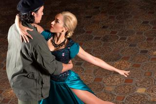 Justin Gregory Lopez and Ana Isabelle in EVITA. Photo by John Revisky.