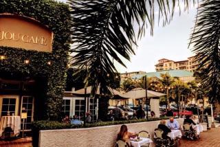 sidewalk view of bijou cafe restaurant in sarasota florida