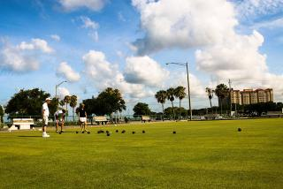 Lawn bowling in action, in Sarasota County