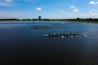 Rowing regatta at Nathan Benderson Park in Sarasota Florida