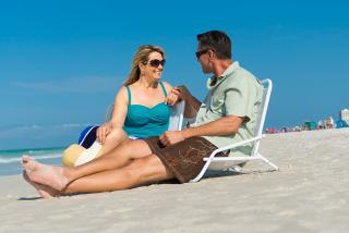 Boomer Couple at Beach