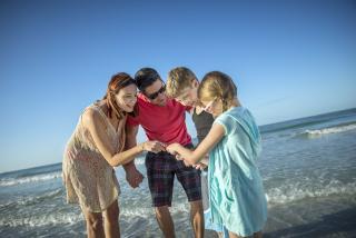 Family at Siesta Beach
