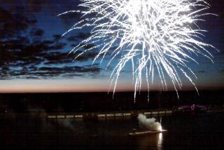 Fireworks over Nathan Benderson Park