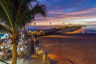 Sharkeys On The Pier At Sunset