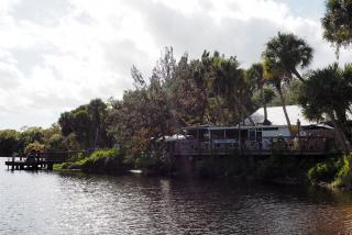 Waterfront view of Snook Haven restaurant in sarasota, florida