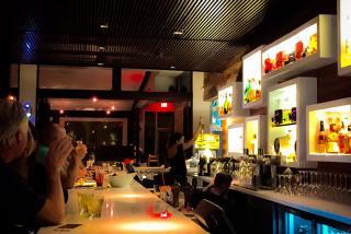 The bar at Social on First.  Photo credit: Loren Mayo.